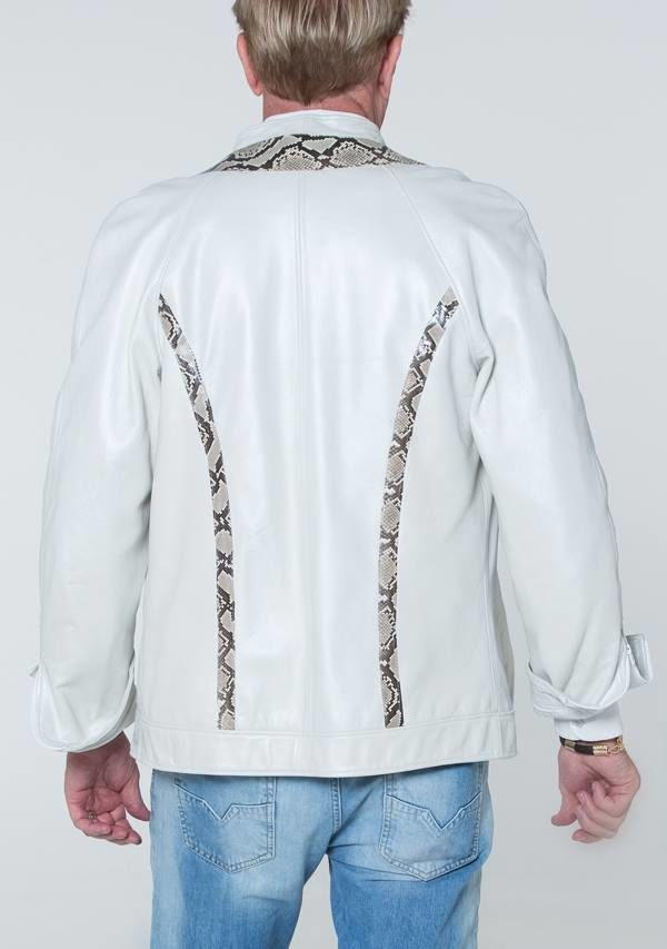 White Leather with python jacket