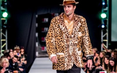leopard sports jacket, mink fur leopard print mens blazer jacket