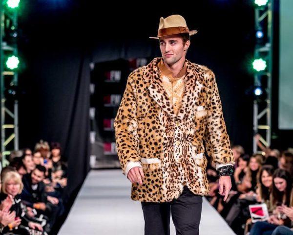 leopard sports jacket, mink fur leopard print mens blazer jacket